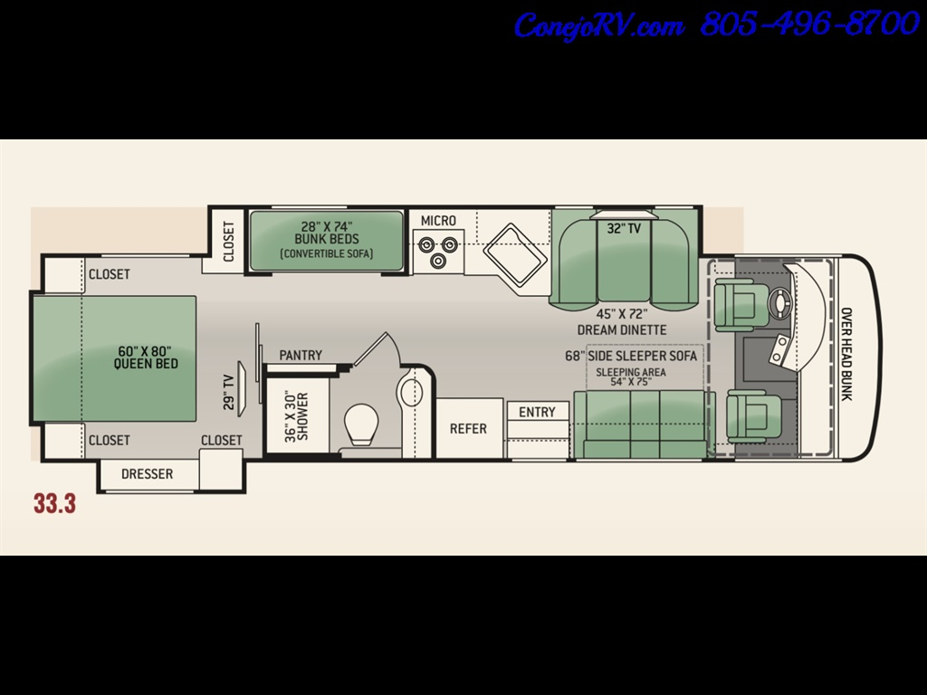 2014 Thor Palazzo 33.3 Double Slide Outs Bunkhouse Diesel - Photo 46 - Thousand Oaks, CA 91360