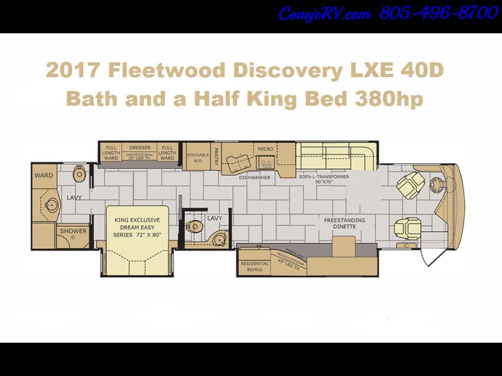 2017 Fleetwood Discovery LXE 40D Bath and a Half King Bed 380hp - Photo 50 - Thousand Oaks, CA 91360