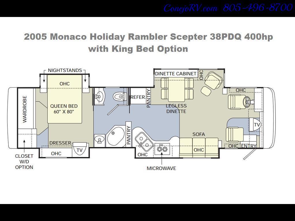 2005 Monaco Holiday Rambler Scepter 38PDQ 400hp 27k Miles - Photo 39 - Thousand Oaks, CA 91360
