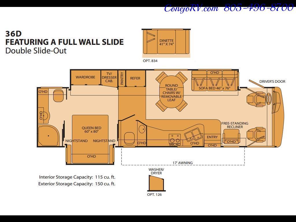 2006 Fleetwood Pace Arrow 36D Full-Wall Slide 1.5 Bath 8k Miles - Photo 35 - Thousand Oaks, CA 91360