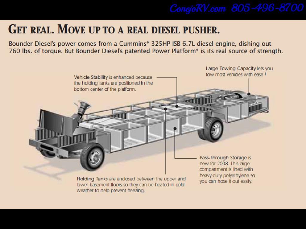 2008 Fleetwood Bounder 38F 325hp Diesel Pusher 3-Slide 1.5 Bath - Photo 49 - Thousand Oaks, CA 91360