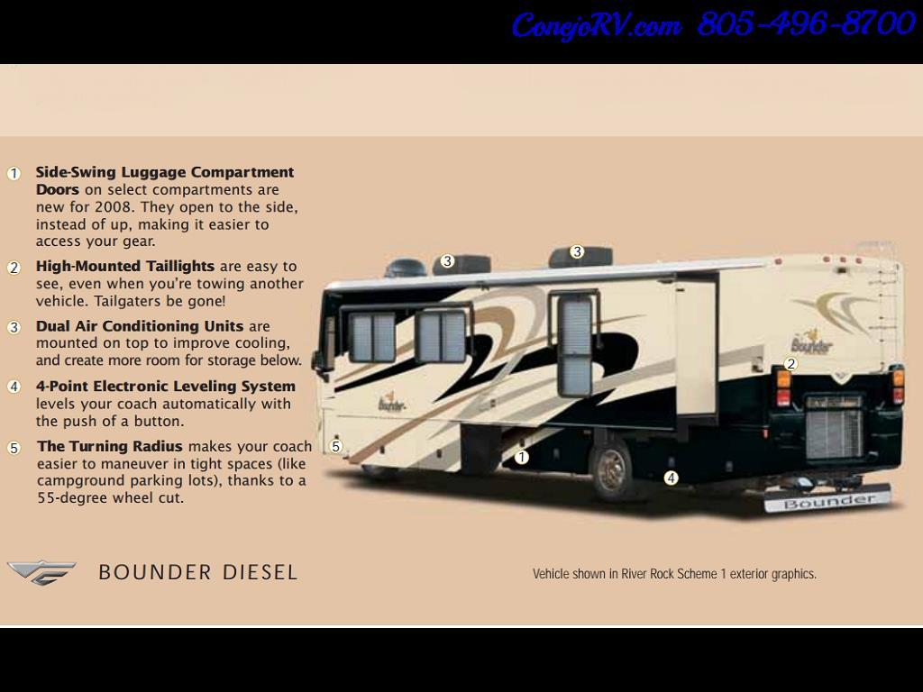2008 Fleetwood Bounder 38F 325hp Diesel Pusher 3-Slide 1.5 Bath - Photo 47 - Thousand Oaks, CA 91360