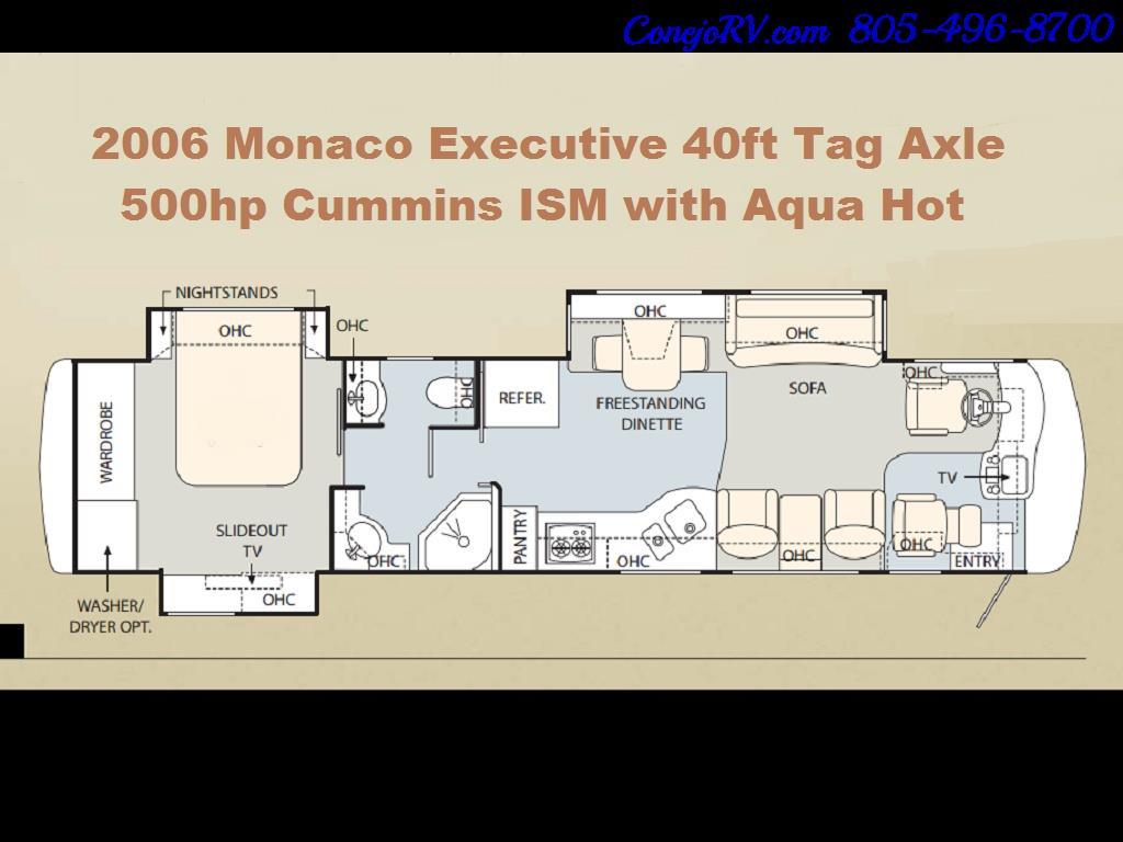 2006 Monaco Executive 40 Rainier 3-Slide 500hp Full Body Paint - Photo 35 - Thousand Oaks, CA 91360