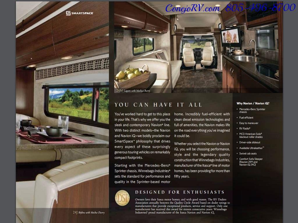 2012 Winnebago Itasca Navion 24G 2-Slide Full Paint  15k Miles - Photo 33 - Thousand Oaks, CA 91360