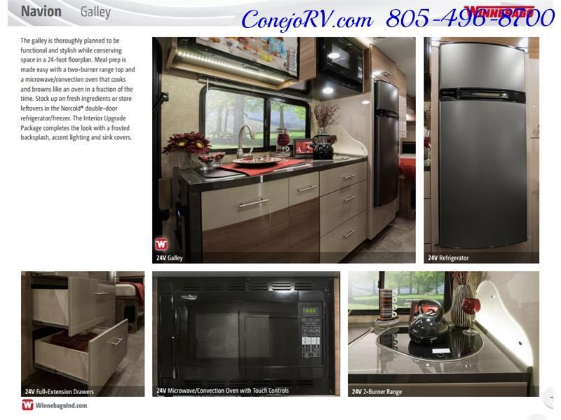 2017 Winnebago Itasca Navion 24J Slide-Out Full Body Paint Diesel - Photo 40 - Thousand Oaks, CA 91360