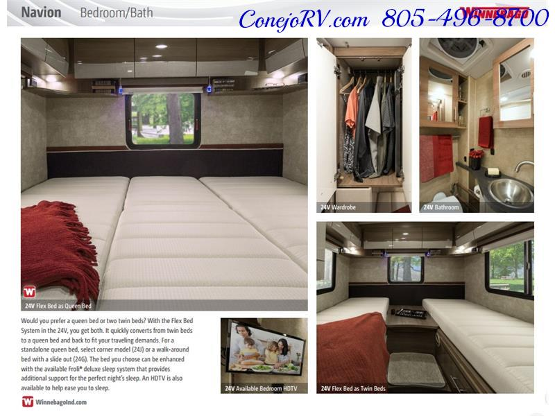 2017 Winnebago Itasca Navion 24J Slide-Out Full Body Paint Diesel - Photo 41 - Thousand Oaks, CA 91360