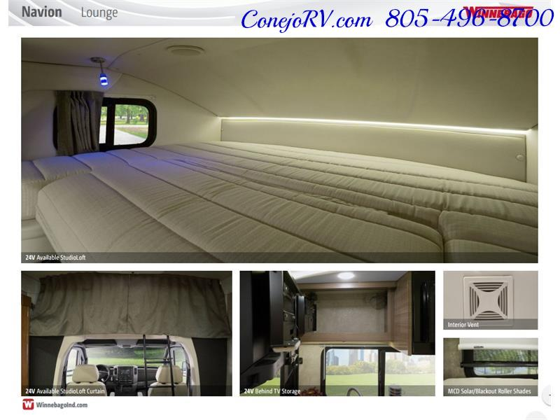 2017 Winnebago Itasca Navion 24J Slide-Out Full Body Paint Diesel - Photo 39 - Thousand Oaks, CA 91360