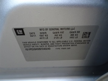 2011 Chevrolet Cruze LS - Photo 24 - Cincinnati, OH 45255