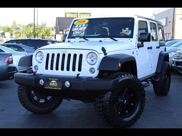 2016 Jeep Wrangler Unlimited Sport S 4x4 1 Owner Photo 2 Sacramento Ca