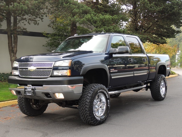 2005 chevrolet silverado 2500 lt crew cab duramax diesel 55k miles lifted. Black Bedroom Furniture Sets. Home Design Ideas