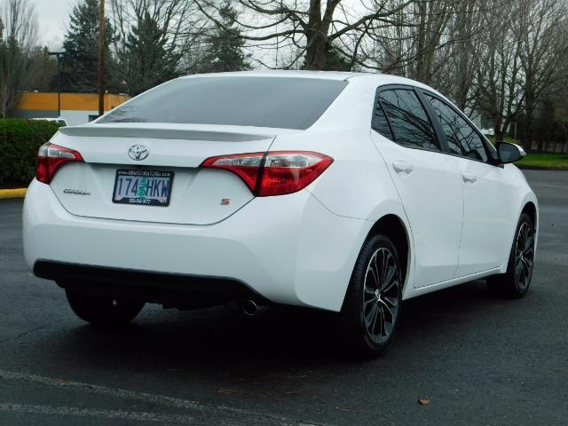 2015 Toyota Corolla S Plus SPORT SEDAN / 6-Speed CVT / FULLY LOADED - Photo 8 - Portland, OR 97217