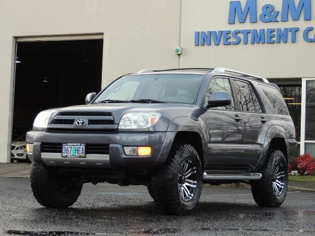 2003 toyota 4runner limited 4wd v6 leather sun roof diff lock lifted. Black Bedroom Furniture Sets. Home Design Ideas