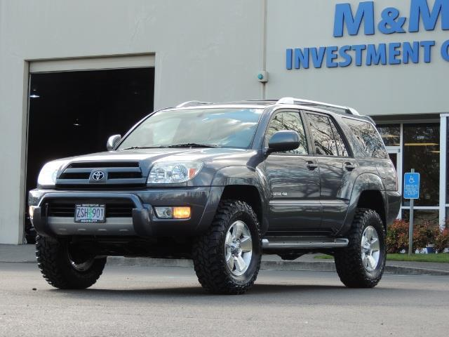 2003 Toyota 4Runner LIMITED / V6 4WD / LEATHER / DIFF LOCK / LIFTED !