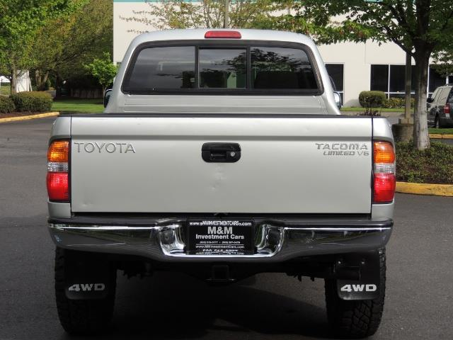 2002 Toyota Tacoma Limited V6 4dr Double Cab / 4X4 / RR DIFF LOCKS - Photo 6 - Portland, OR 97217