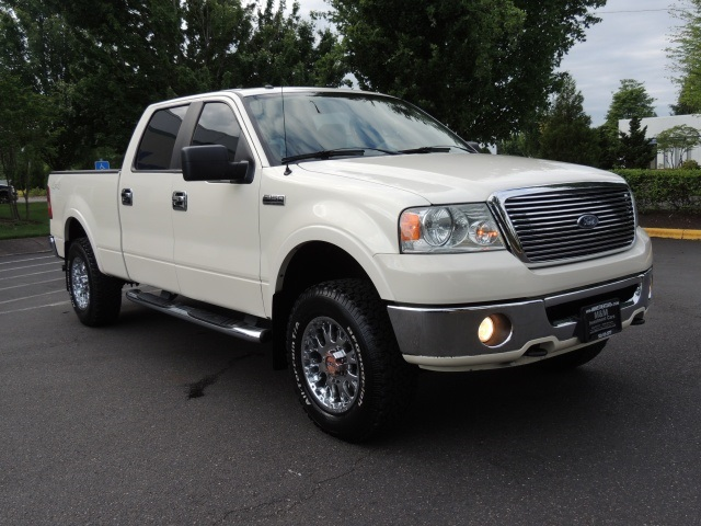 2007 ford f 150 lariat crew cab 4x4 leather long bed. Black Bedroom Furniture Sets. Home Design Ideas