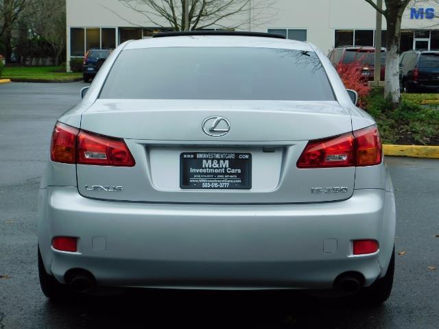 2006 Lexus IS 250 / Leather / Heated seats / Premium Wheels - Photo 6 - Portland, OR 97217