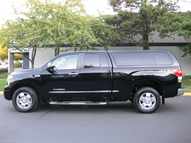 2007 Toyota Tundra Limited Double Cab 4x4 Leather Canopy Black