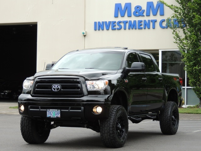 2011 Toyota Tundra Crewmax 4x4 5 7l Rock Warrior Pkg Lifted