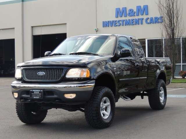 2001 ford f 150 4dr lariat fx4 lifted low miles 90k. Black Bedroom Furniture Sets. Home Design Ideas