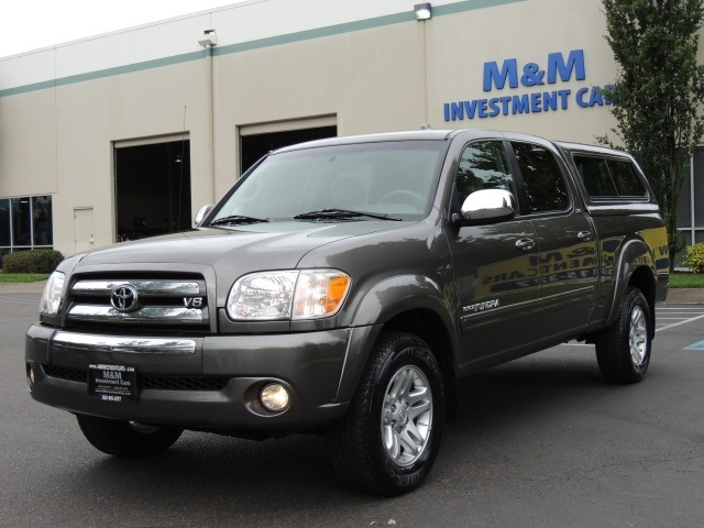 2005 Toyota Tundra SR5 / Crew Cab / 4X4 / Canopy / 1-Owner / & 2005 Toyota Tundra SR5 / Crew Cab / 4X4 / Canopy / 1-Owner / Excel Co