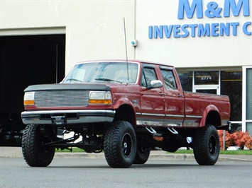1997 Ford F-350 XLT / Crew Cab / 7.3L DIESEL / LIFTED LIFTED