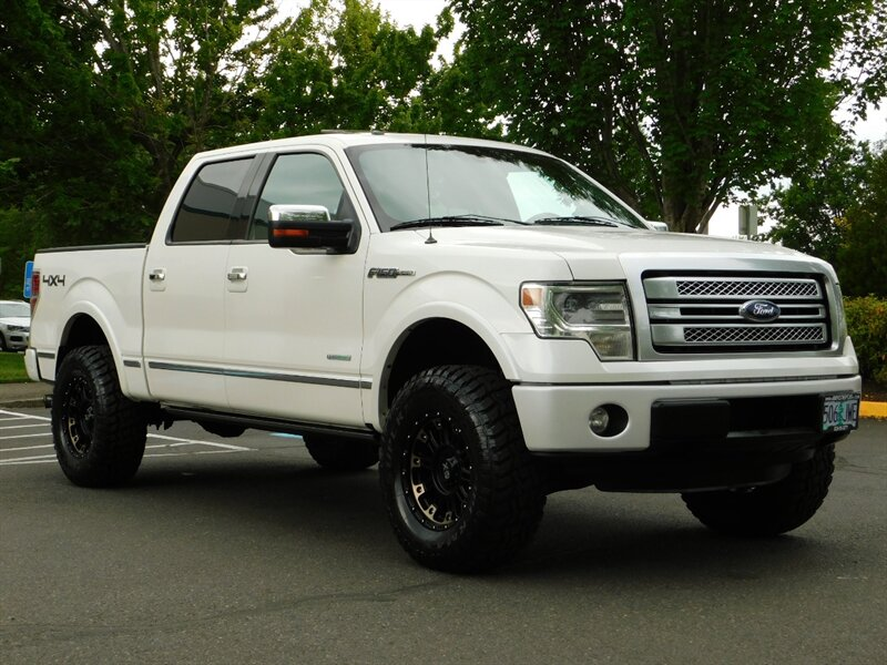 ford 150 4x4 cab lifted platinum crew ecoboost 5l truck miles