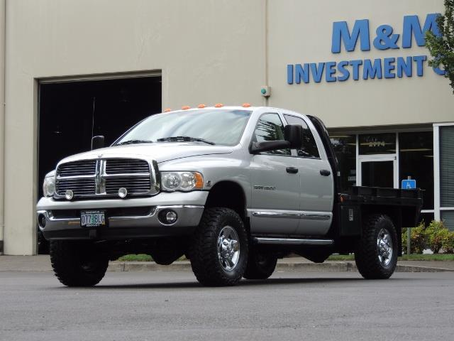2004 Dodge Ram 3500 Laramie FLAT BED 4X4 / 5.9L Cummins DIESEL 6-SPEED - Photo 1 - Portland, OR 97217