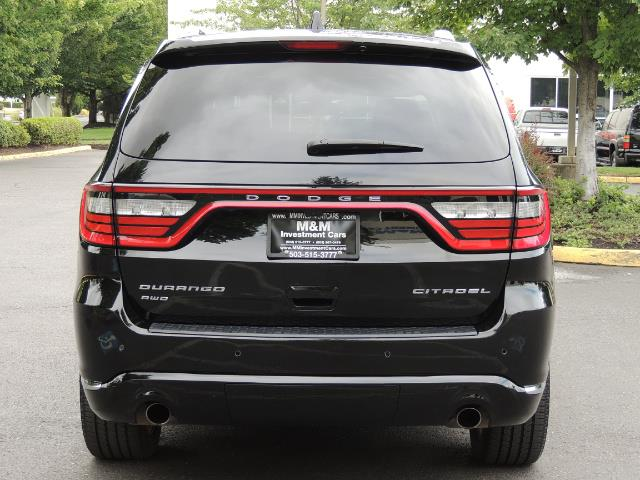 2017 Dodge Durango Citadel / AWD / Navigation / 3RD Seat / Excel Cond - Photo 6 - Portland, OR 97217