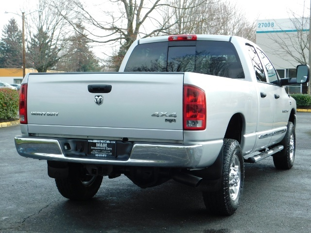2006 Dodge Ram 2500 Laramie / 4X4 / 5.9L Cummins / 1-OWNER / LEATHER - Photo 8 - Portland, OR 97217
