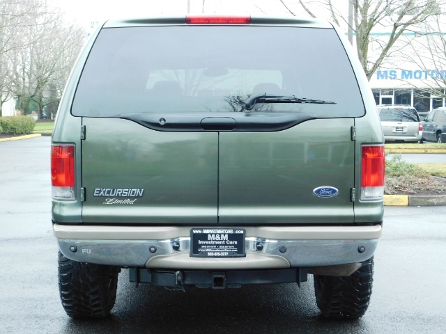 2002 Ford Excursion Limited 4X4 7.3L DIESEL / Leather / LIFTED LIFTED - Photo 6 - Portland, OR 97217