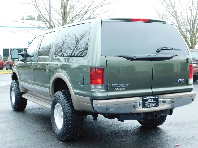 2002 Ford Excursion Limited 4X4 7.3L DIESEL / Leather / LIFTED LIFTED - Photo 7 - Portland, OR 97217