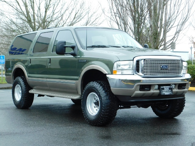 2002 Ford Excursion Limited 4X4 7.3L DIESEL / Leather / LIFTED LIFTED - Photo 2 - Portland, OR 97217