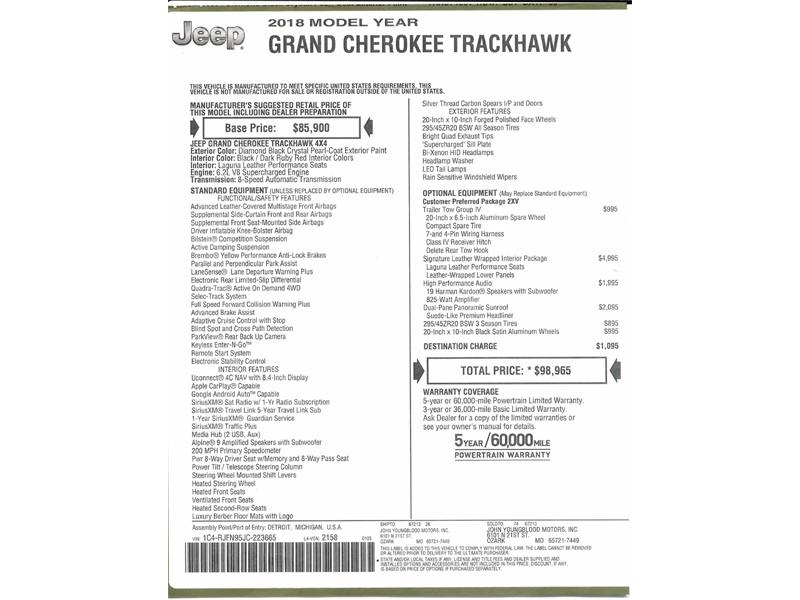 2018 Jeep Grand Cherokee Trackhawk - Photo 52 - Springfield, MO 65802