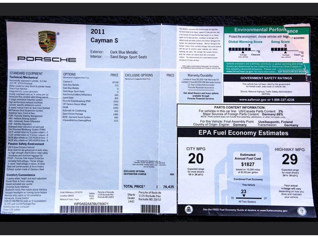 "2011 Porsche Cayman S TPC  ""Turbo "" - Photo 40 - Springfield, MO 65802"
