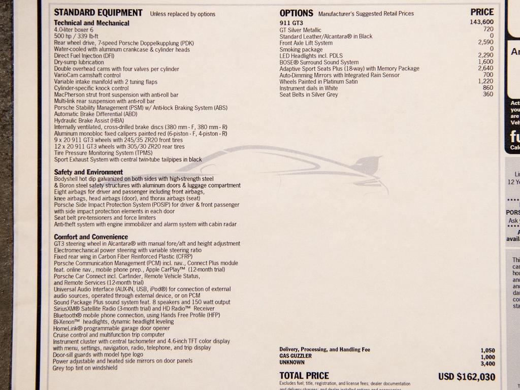 2018 Porsche 911 GT3 (Manual) - Photo 43 - Springfield, MO 65802