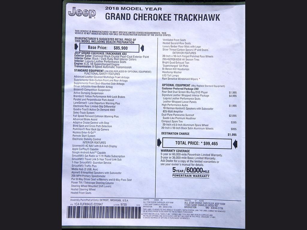 2018 Jeep Grand Cherokee Trackhawk - Photo 46 - Springfield, MO 65802