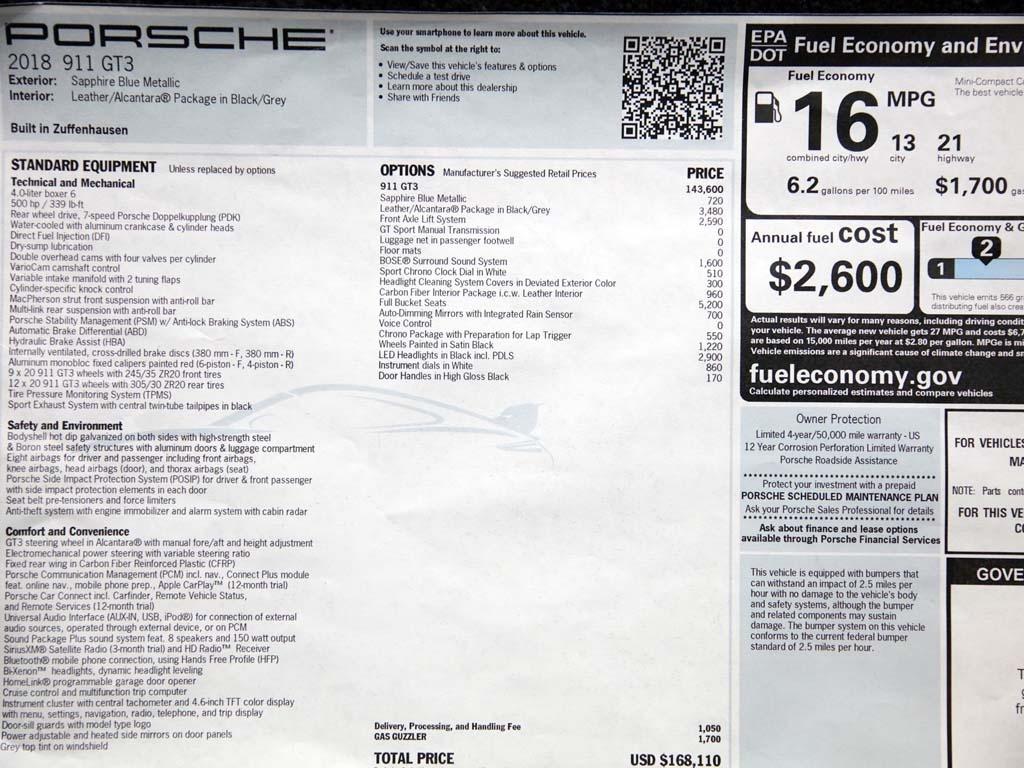 """2018 Porsche 911 GT3  """"Manual """" - Photo 55 - Springfield, MO 65802"""