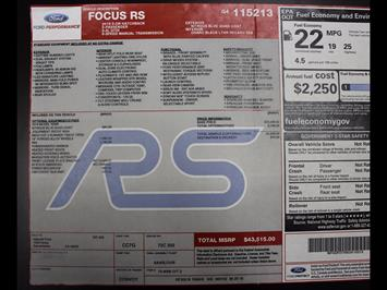 2016 Ford Focus RS - Photo 43 - Rancho Cordova, CA 95742
