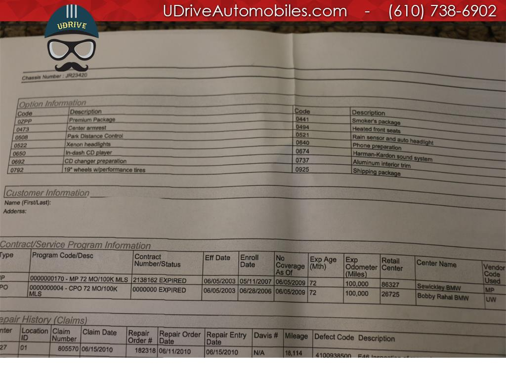 2003 BMW M3 6 Speed Manual Service History 19 in Wheels HK - Photo 36 - West Chester, PA 19382