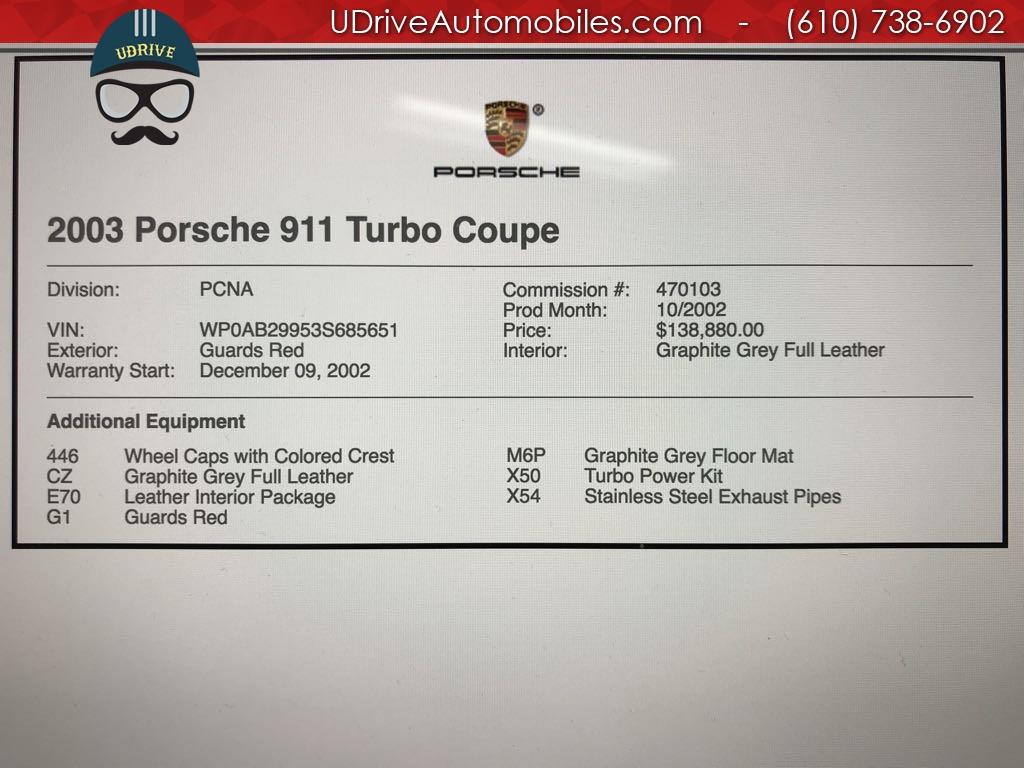 2003 Porsche 911 25k Miles Turbo Coupe 6 Speed X50 Turbo Power Kit! - Photo 2 - West Chester, PA 19382