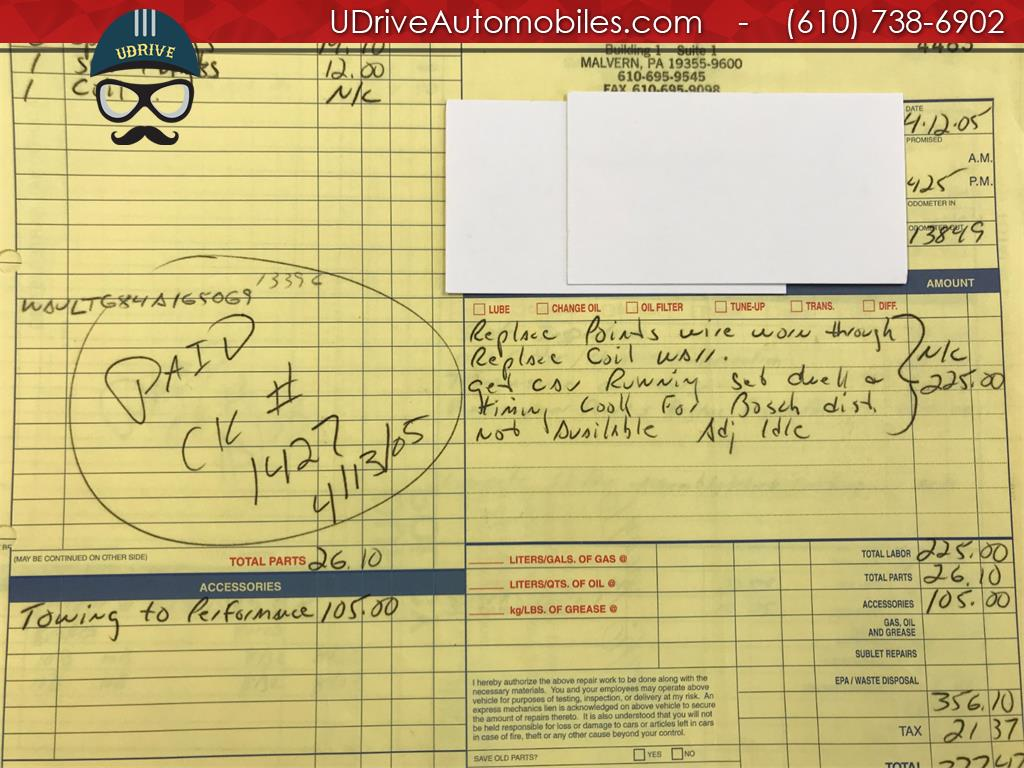 1970 Porsche 911 911T Detailed Service History 1 Owner Video - Photo 48 - West Chester, PA 19382