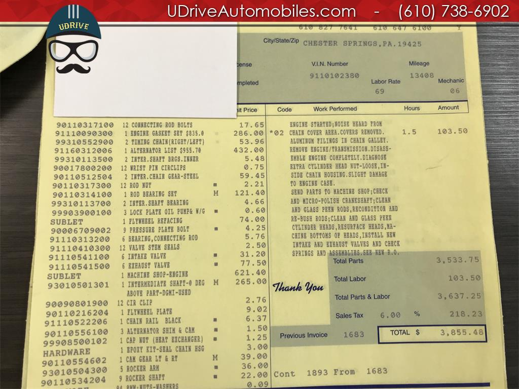 1970 Porsche 911 911T Detailed Service History 1 Owner Video - Photo 56 - West Chester, PA 19382