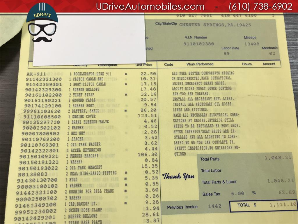1970 Porsche 911 911T Detailed Service History 1 Owner Video - Photo 54 - West Chester, PA 19382