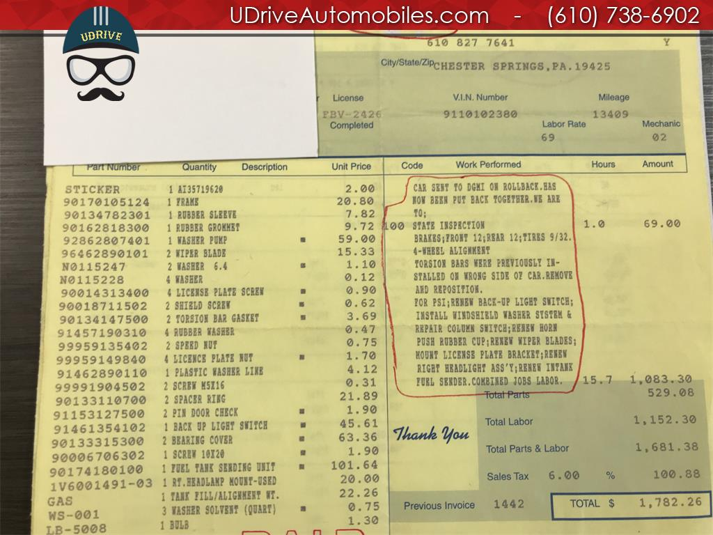 1970 Porsche 911 911T Detailed Service History 1 Owner Video - Photo 52 - West Chester, PA 19382