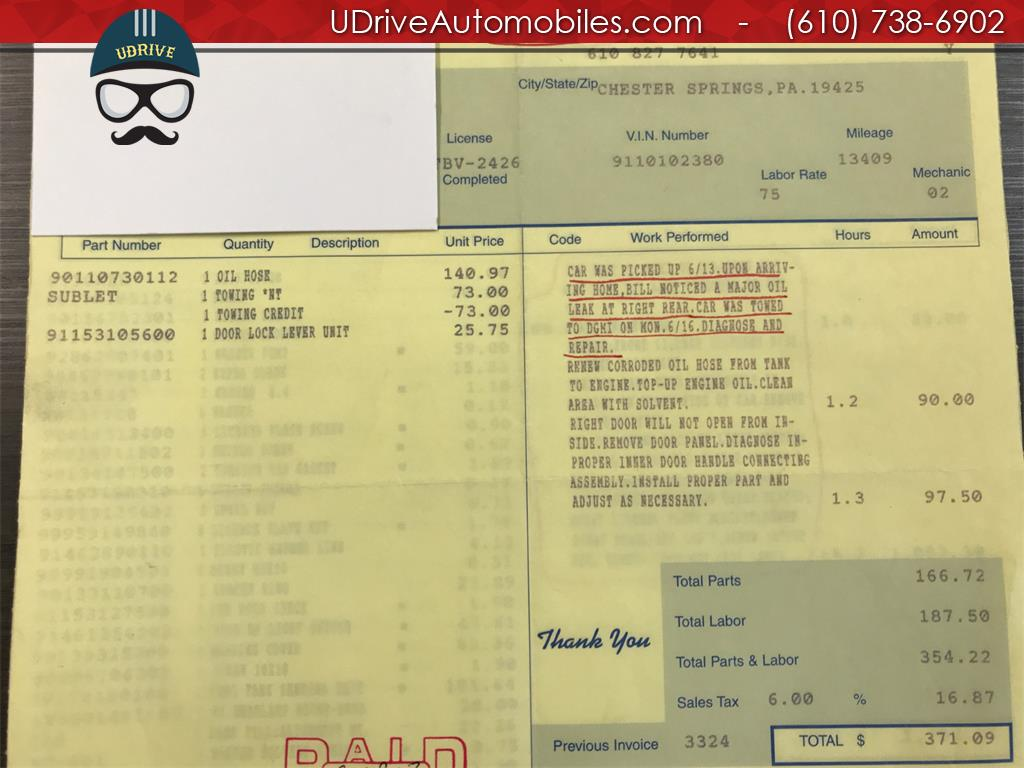 1970 Porsche 911 911T Detailed Service History 1 Owner Video - Photo 51 - West Chester, PA 19382