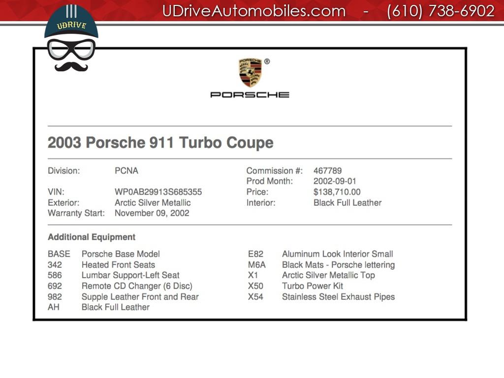 2003 Porsche 911 996 Turbo X50 Power Package 6k Miles 6 Speed
