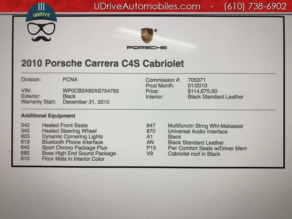 2010 Porsche 911 11k Miles Carrera 4S Cabriolet 6 Speed Manual C4S - Photo 2 - West Chester, PA 19382