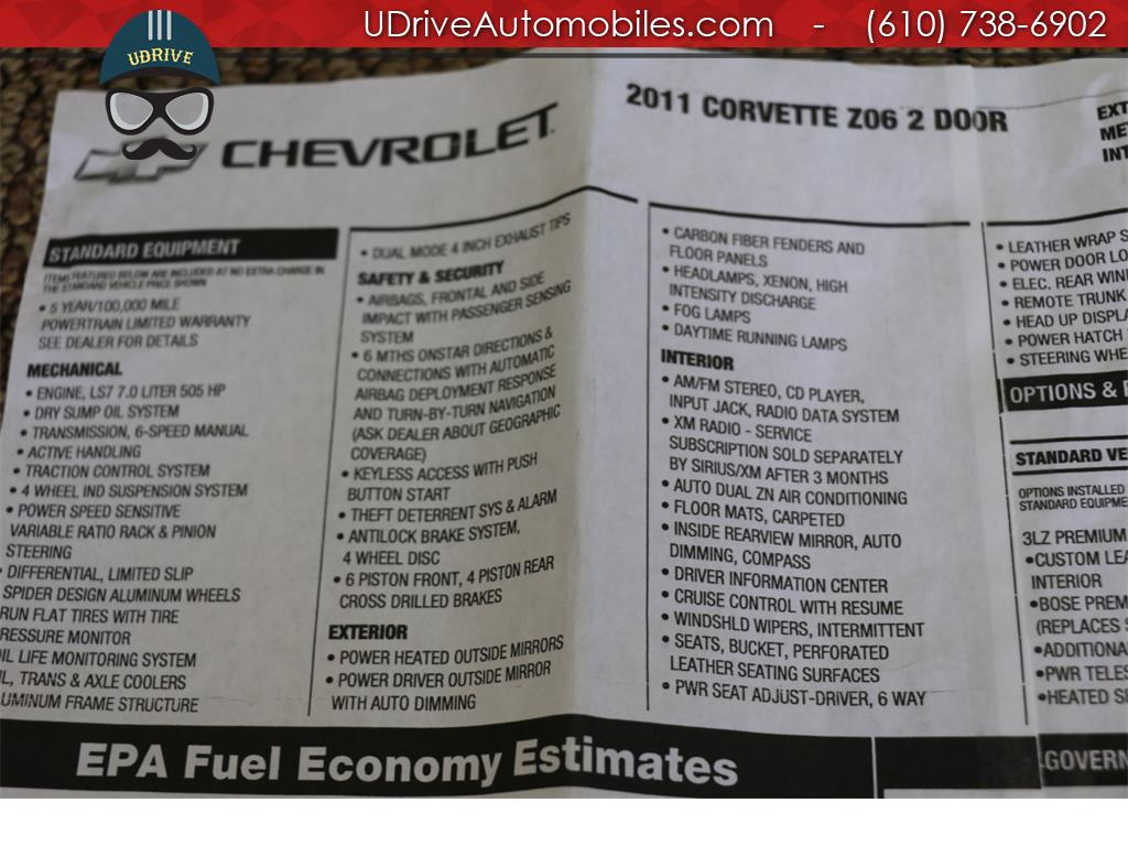 2011 Chevrolet Corvette Z06 3LZ Carbon Fiber Pkg $91k MSRP NAV Heated Seat - Photo 30 - West Chester, PA 19382
