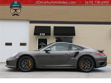 2016 Porsche 911 Turbo S Coupe Red Leather Glass Roof Warranty Coupe