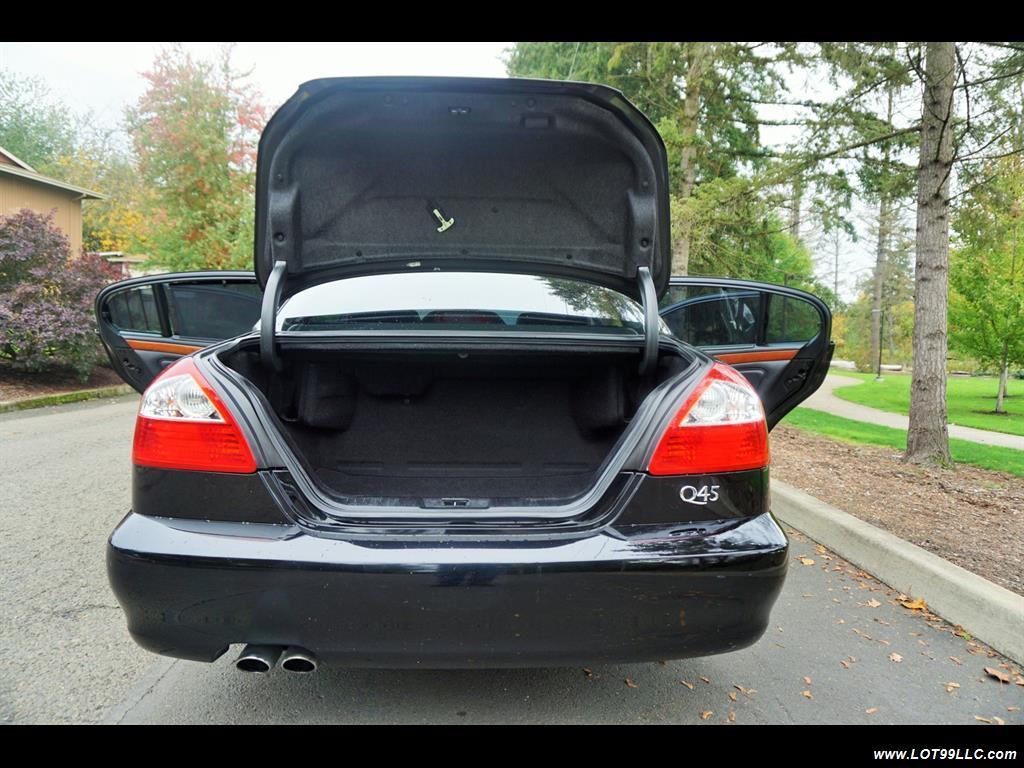 2002 Infiniti Q45 105K Low Miles Navi Leather Heated Seats. - Photo 29 - Milwaukie, OR 97267
